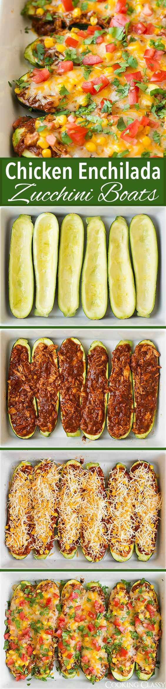 These Enchilada Zucchini Boats are one of the recipes that I've had on my mind for a long time and finally made it a reality now that it's summer and zucchini is in massive abundance at our house