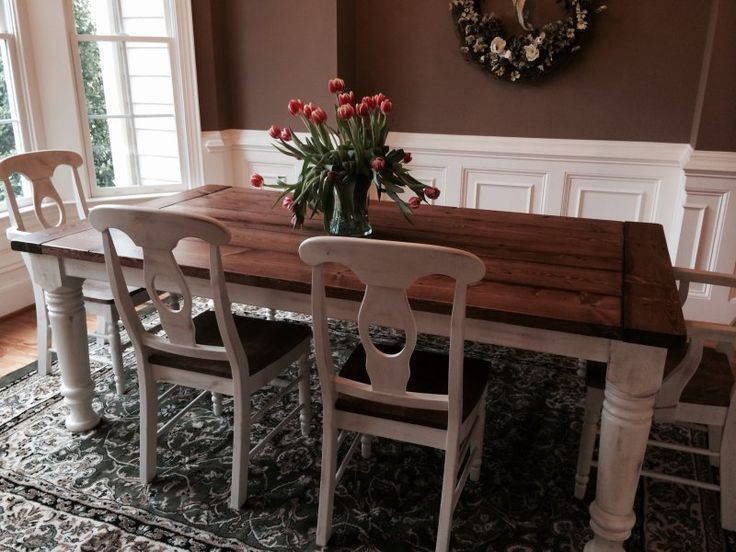 best  about Table on Pinterest  Farmhouse table with