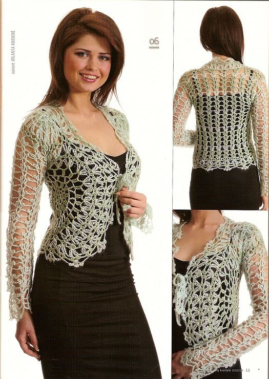 Cute bolero, free crochet patterns Crochet ideas ...