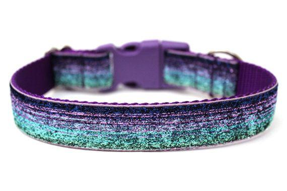 Purple Dog Collar 1 Glitter Dog Collar