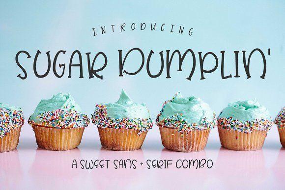 Sugar Dumplin' Sans & Serif Font by BeckMcCormick on @creativemarket