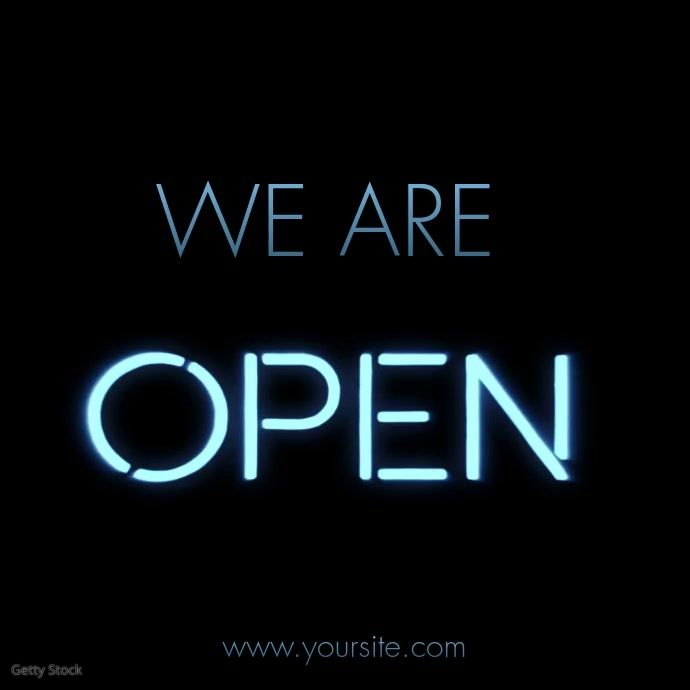 We Are Open Retial Neon Sign Education Poster Education Poster Template