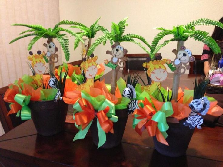 Safari baby shower centerpieces jantalflowers safari for Baby shower safari decoration