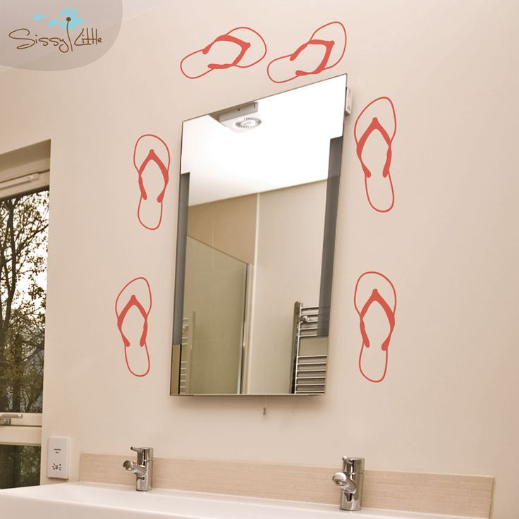 46 best flip flop bathroom accessories ideas images on for Flip flop bathroom decor