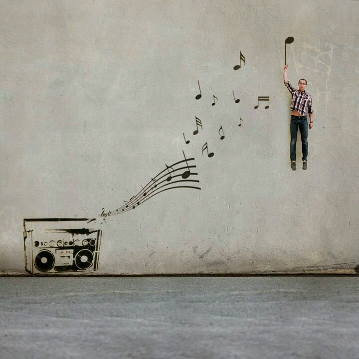 Arts Music Photography: Fly Away With Music -- Street Art