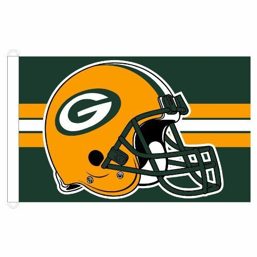 NFL Green Bay Packers 3-by-5 foot Stripe Design Flag by WinCraft. $21.95. Made in USA. Perfect for the #1 fan. Washable. Vibrant Colors. Indoor or outdoor use. Quality 100% three-thread woven knit polyester for outdoor use, dye-printed logos show through to the backside, two durable D-rings. Made in USA.. Save 12%!