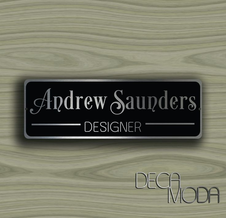PERSONALIZED DOOR SIGN, Door Name Plate Sign, Customizable Signs, Door Name, Door Sign, Door Plaque, Door Plate, Office Door Sign by DecaModa on Etsy