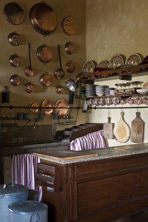 Italy - Friuli Venezia Giulia, country kitchen