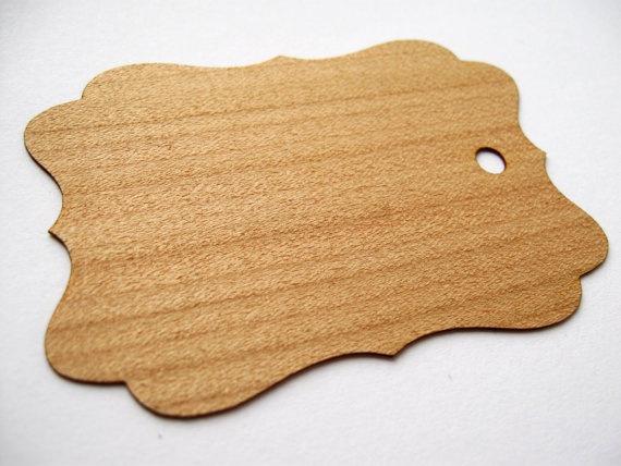 super cool wooden tag