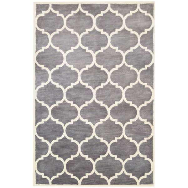 Ručne tuftovaný strieborný koberec Florida, 183x122cm