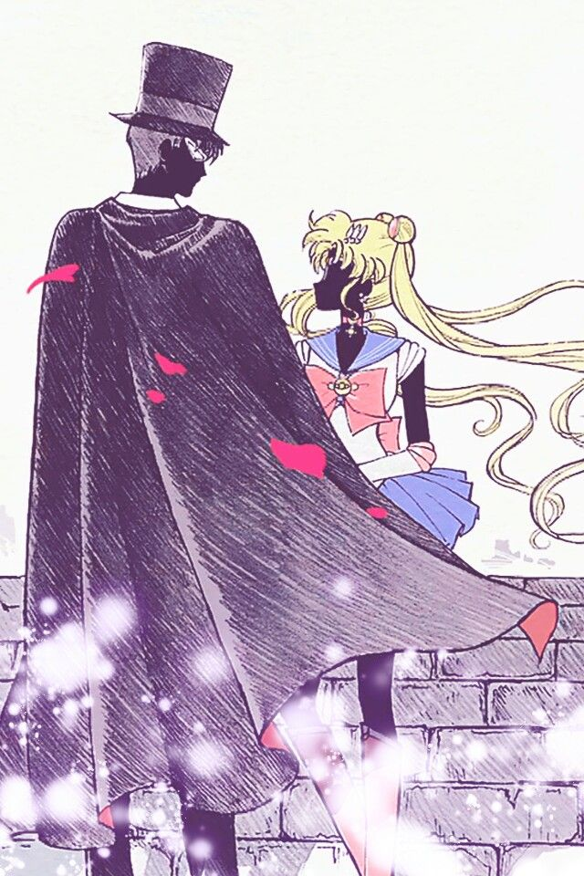 Sailor Moon was the show that got me into anime. I grew up emulating Sailor Moon. I love this picture from Sailor Moon Crystal. It's beautiful and focuses more on their identities as Tuxedo Mask and Sailor Moon than their features. One day I'll get this tattooed on me.