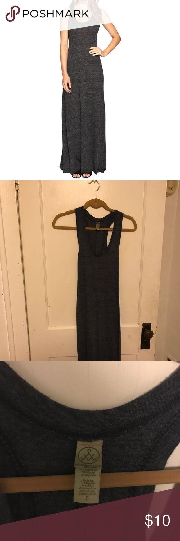 Alternative Apparel maxi dress Like new. Heathered navy color Alternative Apparel Dresses Maxi