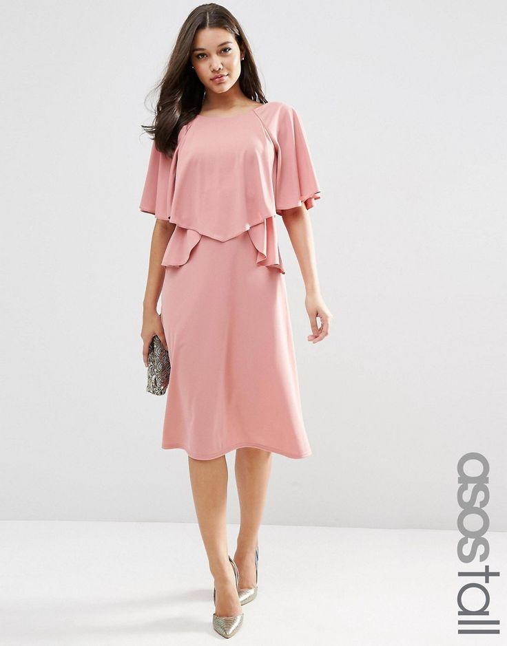ASOS+TALL+Full+Soft+Ruffle+Midi+Dress