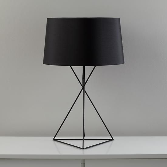 Delighful Black Table Lamp Nod Steel Wire G Throughout Decorating Ideas