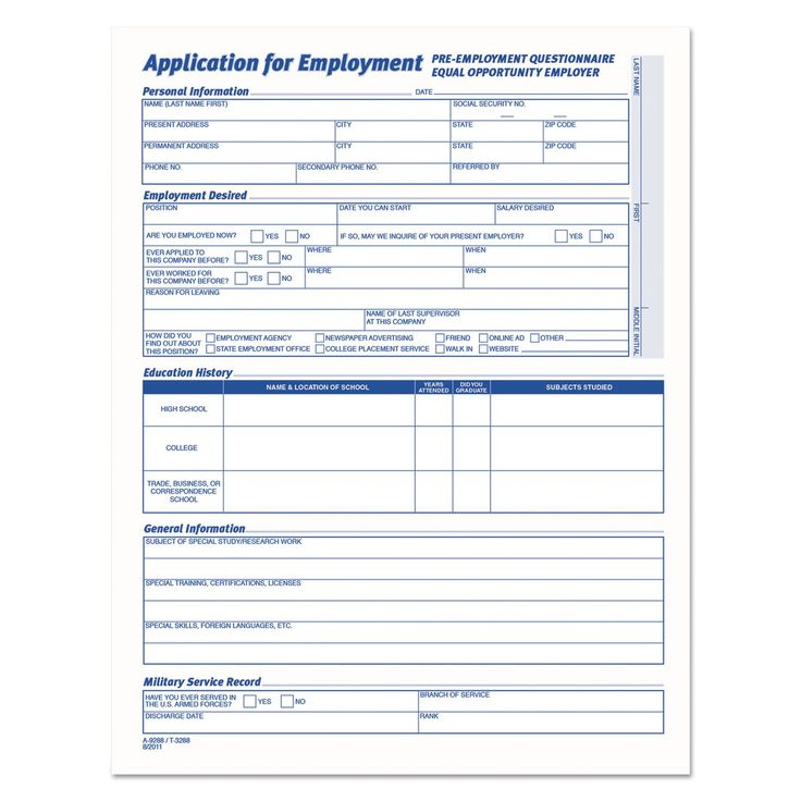 Best 25+ Application form ideas on Pinterest Life skills lessons - blank employment application