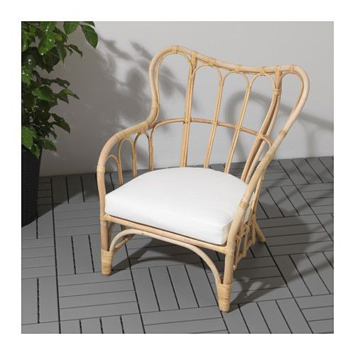 MASTHOLMEN Armchair, outdoor IKEA Handmade by a skilled craftsman. Stackable armchair to save space when not in use.