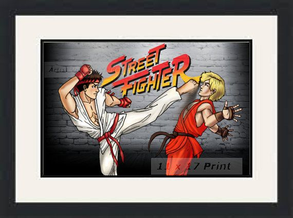 Hey, I found this really awesome Etsy listing at https://www.etsy.com/listing/273254040/ryu-ken-street-fighter-11-x-17-print