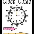 A mini-poster with reminders for students how to read an analogue clock correctly...