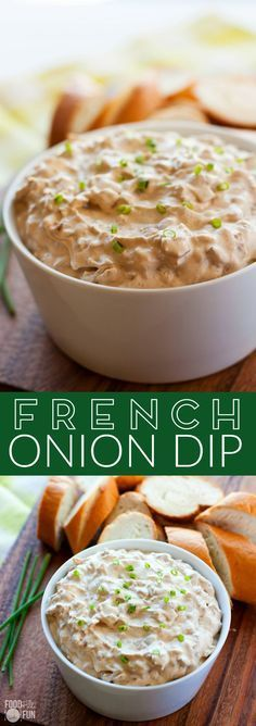 This homemade French Onion Dip recipe will make you ditch the packet for good. It's one of my favorite dips of all time!