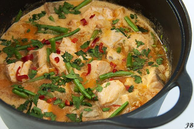 Thaise rode curry met zalm - Powered by @ultimaterecipe