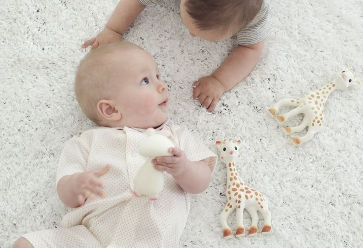 Ready to enjoy the weekend with our friend #Sophie la girafe! She's helping with the pain while teething, plus she's the best company!! Back in stock!!