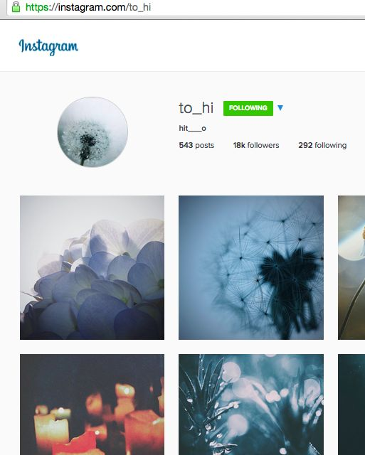 hit___o (とひ) on Instagram has consistently entrancing photos and videos