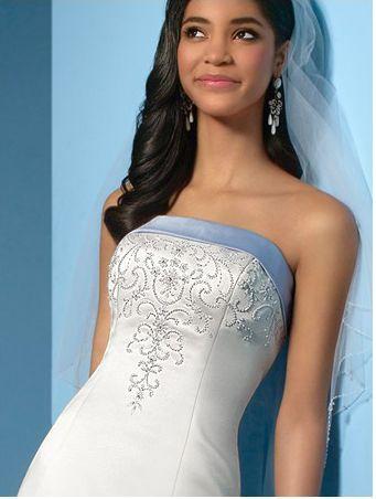 blue sash wedding dress - Google Search