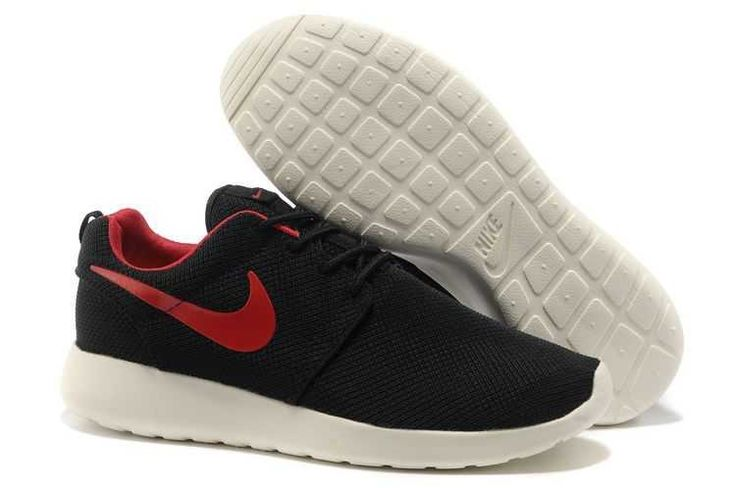 nike roshe run black and red