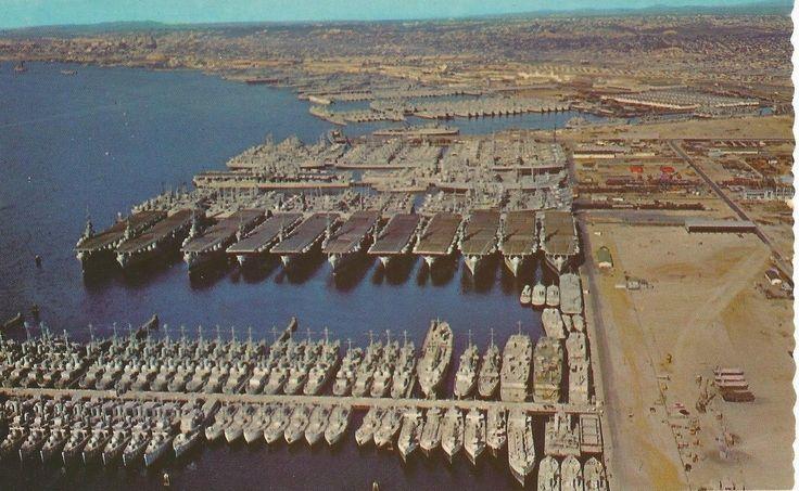 US Navy Ships Leftover After World War 2 In San Diego, 1946