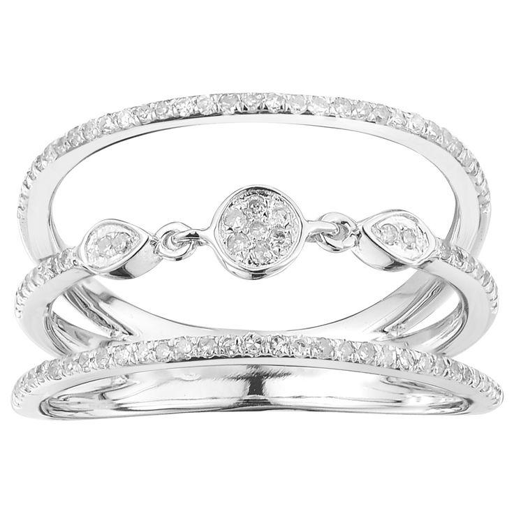 10k White Gold 1/3ct TDW Circle Diamond Ring