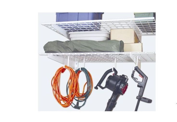 Storage Hook Ceiling Rack Hanger Garage Organizer Over Hanging Bikes 4-Pack