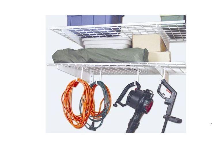 Storage Hook Ceiling Rack Hanger Garage Organizer Over Hanging Bikes 4-Pack