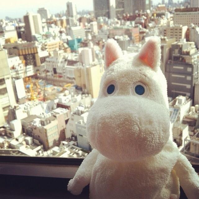Moomin in Tokyo! (via mynthlr instagram) #moomin #tokyo
