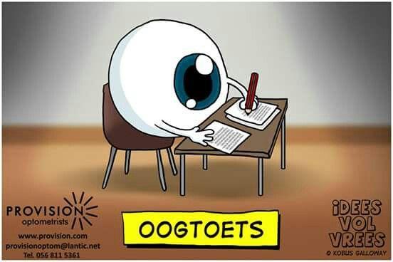 Die volgende keer as jy n oogtoets moet laat doen...  #oogtoets #snaaks #grappe #lol #IVV #Idees_vol_vrees #afrikaans
