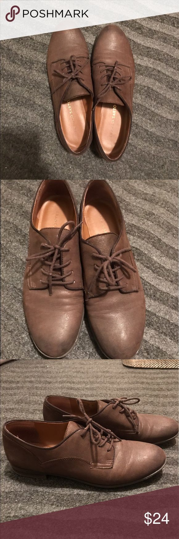 Brown Franco Sarto shoes Versatile chocolate brown Franco sarto shoes. Perfect for work or casual occasion. Very comfortable and in great condition Franco Sarto Shoes Flats & Loafers