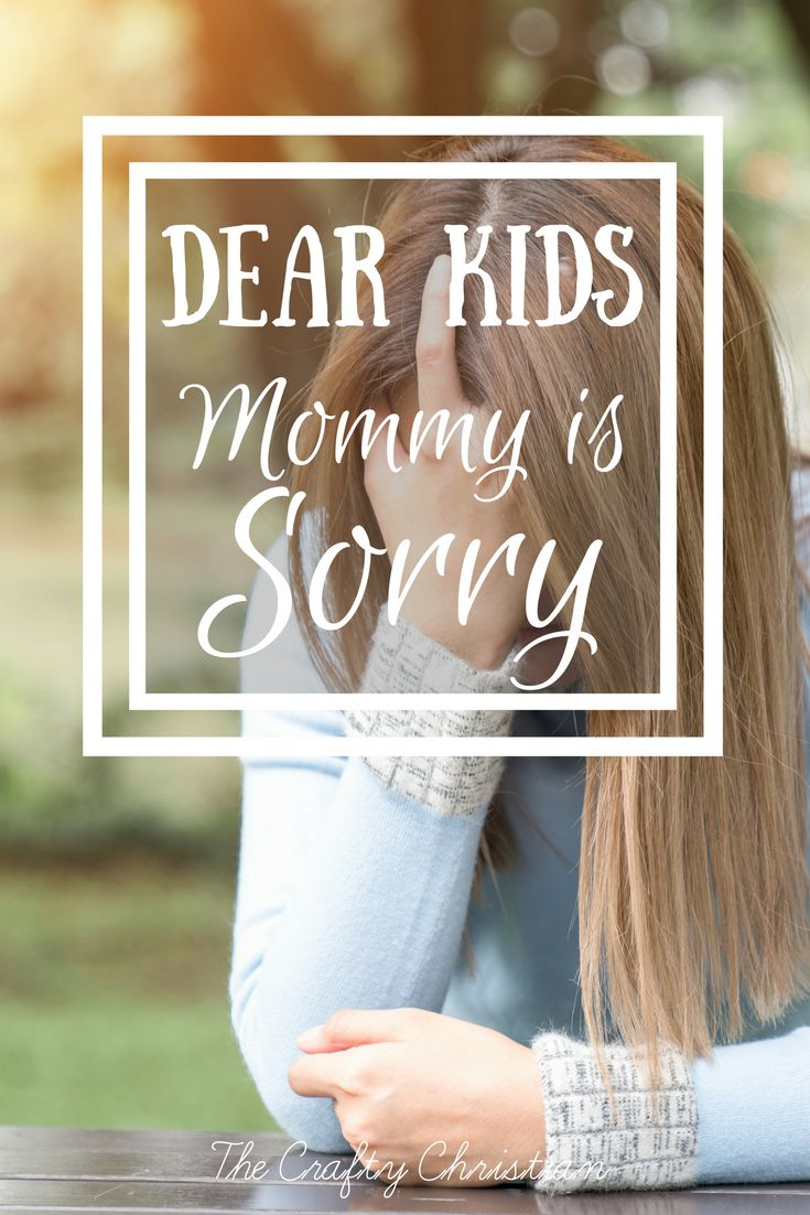 Dear Kids, Mommy is Sorry {Parenting with an Autoimmune Disease} via @craft_christian