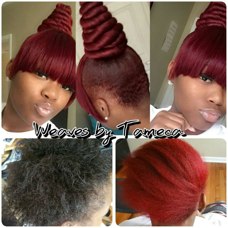 Red Hair Chinese Bang Twisted Bun Top Bun Quick Styles
