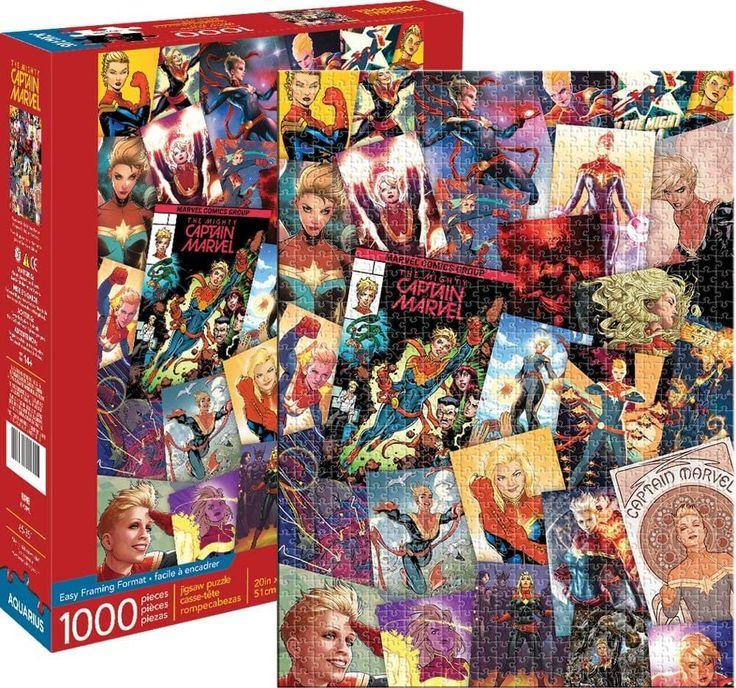 Marvel Captain Marvel Collage 1000 Piece Jigsaw Puzzle Captain Marvel Marvel Jigsaw Puzzles