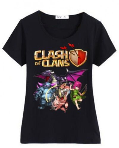 Clash of Clans t shirt for women silm Archer Pekka COC game tee-