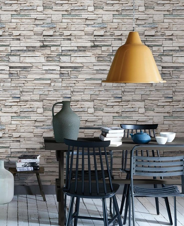Faux Stone peel & stick fabric wallpaper. Get the look of stacked stone, cultured stone, veneer stone and real stone using our Faux Stone wallpaper. This re