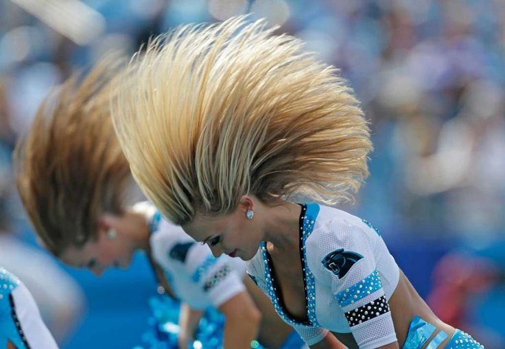 Carolina Panthers cheerleaders perform in the second half of an NFL football game against the Minnesota Vikings in Charlotte, N.C., Sunday, Sept. 25, 2016. (AP Photo/Bob Leverone) Photo: Bob Leverone, Associated Press / FR170480 AP