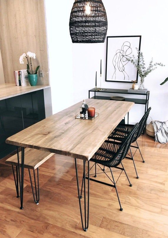 Dining Table Reclaimed Wood Parsons Kitchen Table 60x30 French