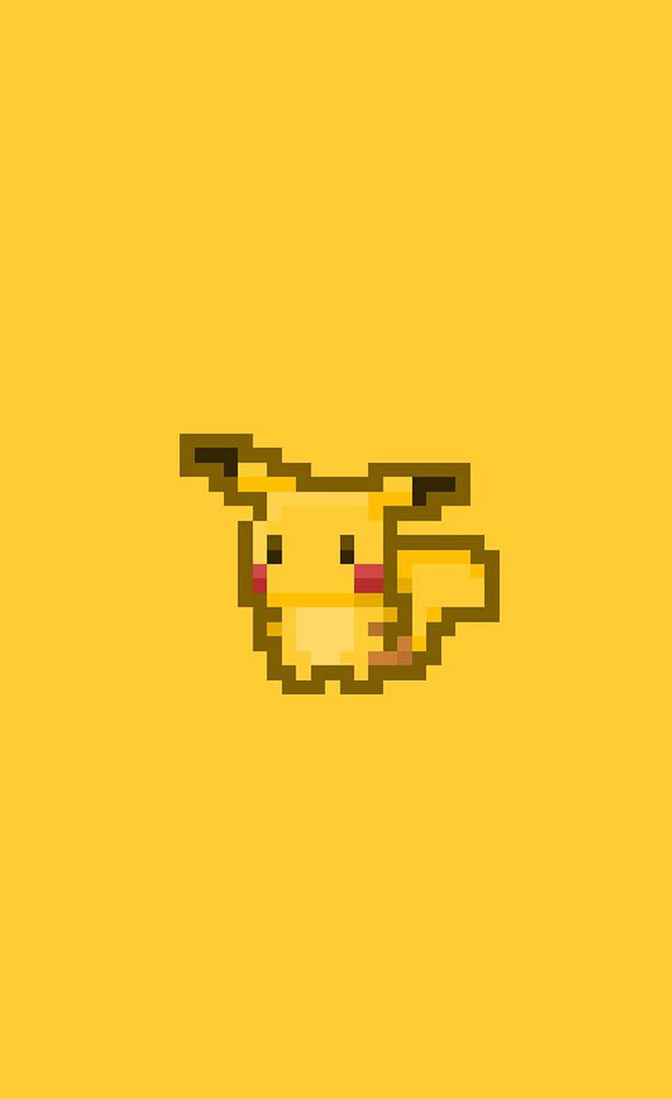 Pixel Pikachu - Cute Pikachu iPhone wallpapers @mobile9 | #chibi #kawaii