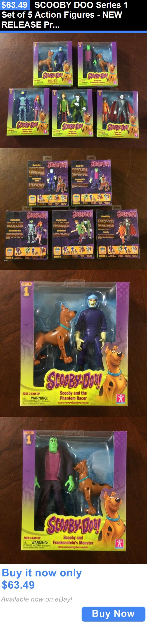 Toys And Games: Scooby Doo Series 1 Set Of 5 Action Figures - New Release Priority Shipping BUY IT NOW ONLY: $63.49