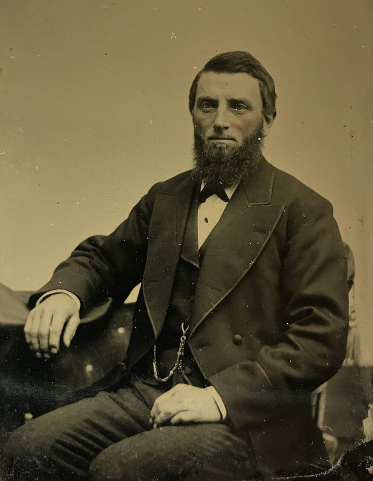 James Cooksey on a sixth plate tintype. Virginia Earps Father, Maternal Grandfather of James Earp on down. Original image from the collection of P. W. Butler.