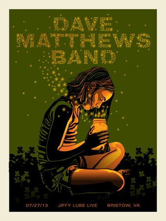 DMB 2013 BRISTOW FIREFLIES « Dave Matthews Band Posters « Methane Studios