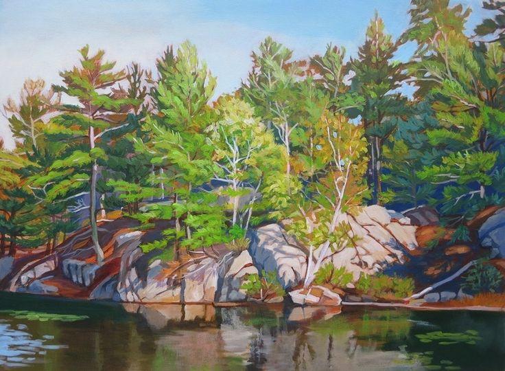 Shoreline Birches