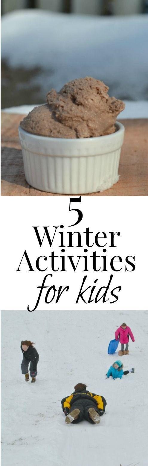 looking for ideas to pass the cold winter days?  Here are 5 easy ideas!