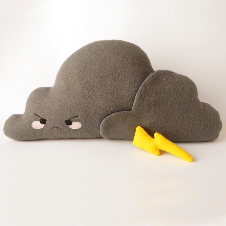 Cloud Stormy Plush - Soft toy and stuffed pillow. €30,00, via Etsy.