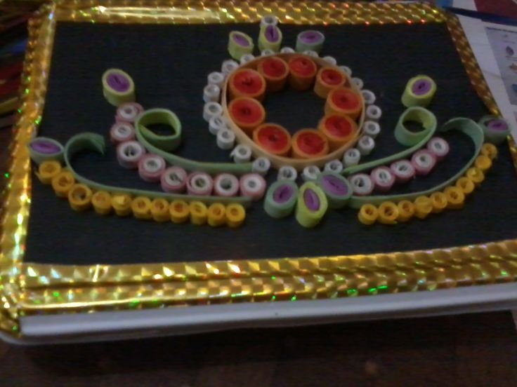 Ornamental quilling on cards, boxes customised on order